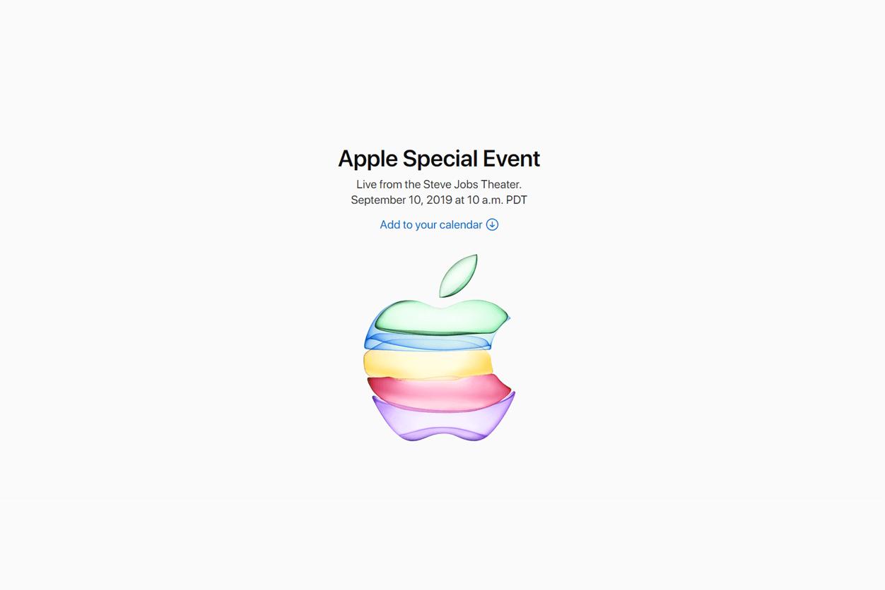 Appleスペシャルイベントが2019年9月11日(日本時間)に開催