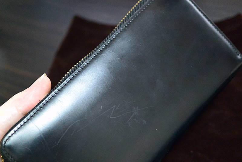 ココマイスターのコードバン長財布(ラウンドウォレット)